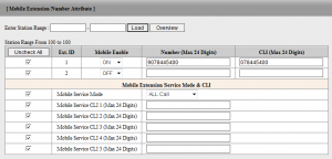 Mobile Extension Number Attribute PGM146