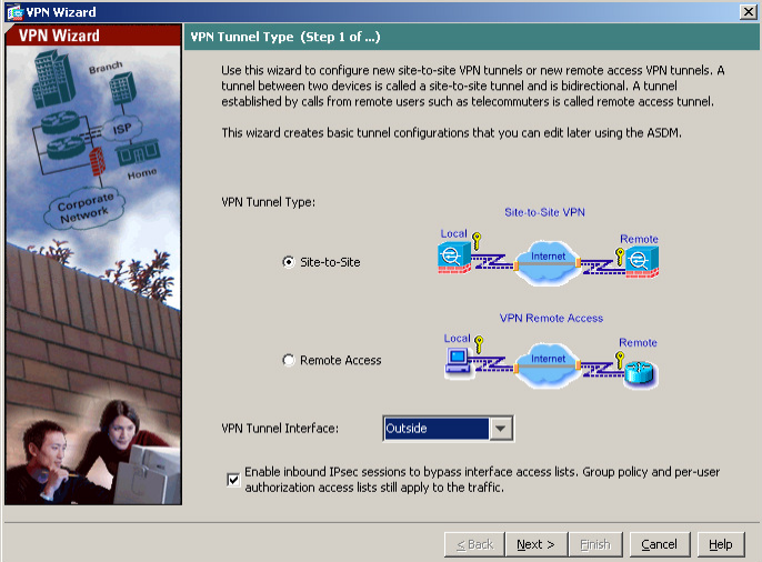 VPN Wizard Step1