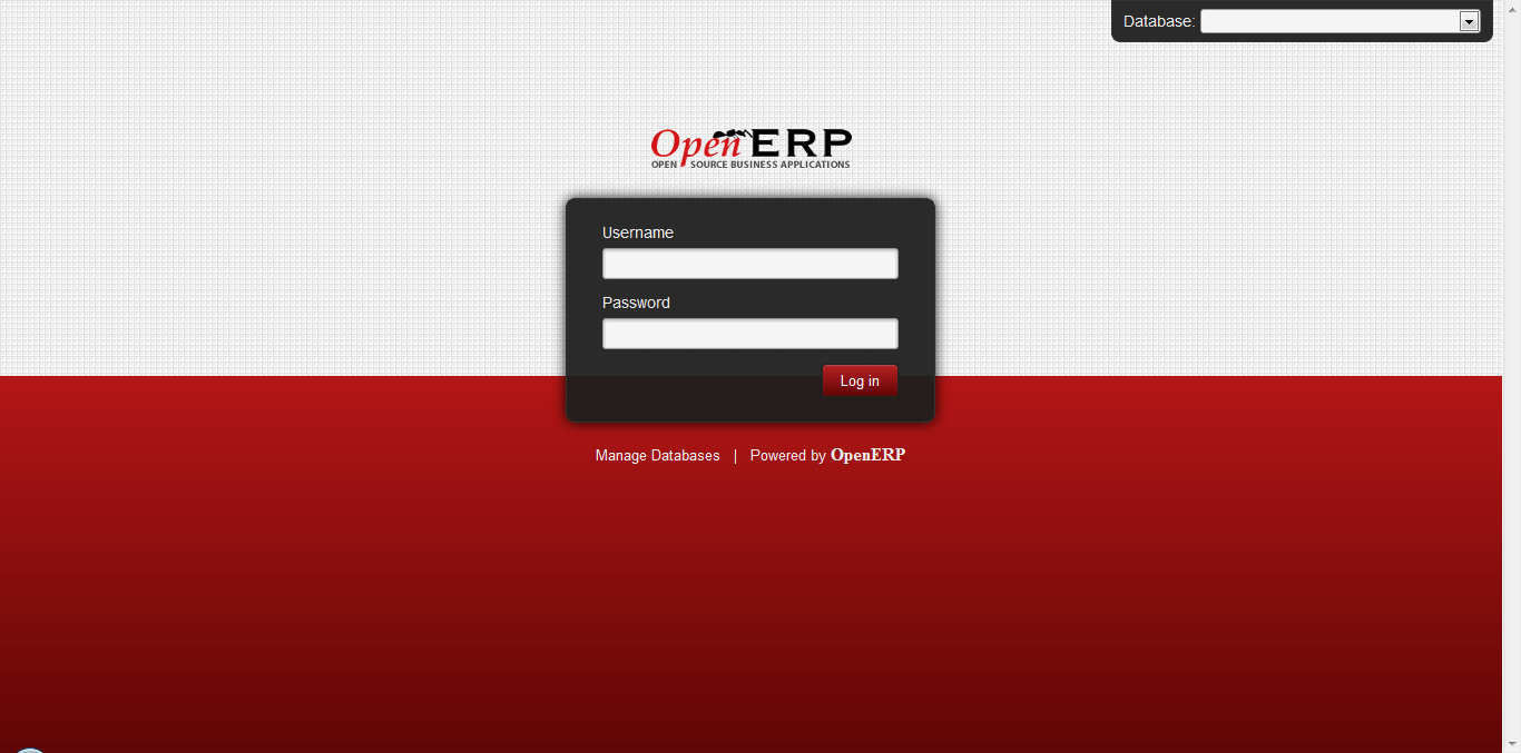 OpenERP Front Page