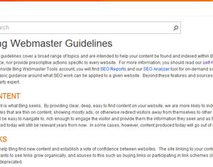 Bing Webmaster Guidelines