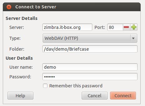 ZImbra Briefcase Linux