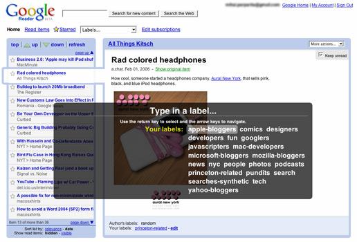 Google Reader Old