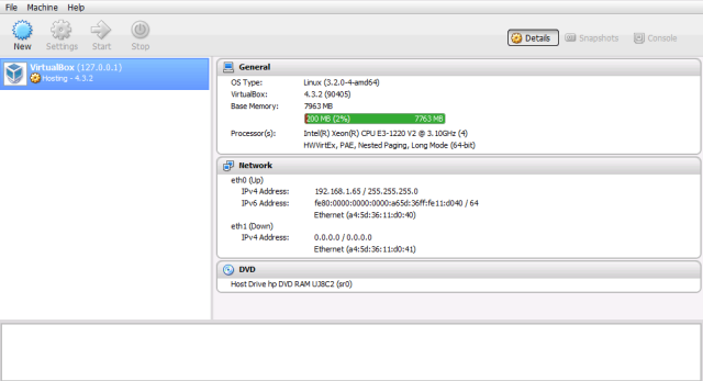 VirtualBox 4.3.2 phpVirtualBox