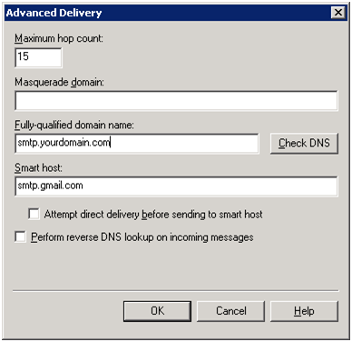 SMTP Advanced Delivery