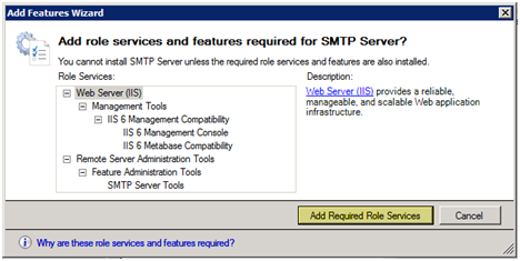Windows 2008 add required services