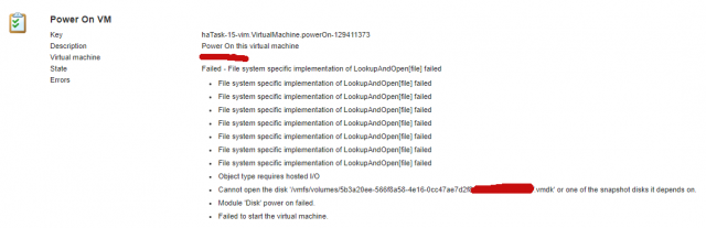 VMware 6 5 can't start VM after a host crash - VION Technology Blog