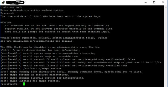 VMWare SNMP Configuration